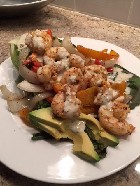 Grilled Salad withShrimp
