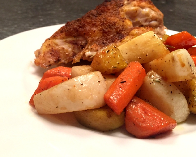 Asian Spiced Chicken with RootVegetables